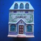 "LENOX SPICE VILLAGE ""GARLIC"" PORCELAIN VICTORIAN HOUSE SPICE JAR!"