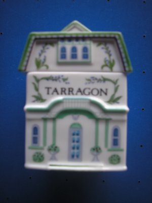 "LENOX SPICE VILLAGE ""TARRAGON"" PORCELAIN VICTORIAN HOUSE SPICE JAR!"