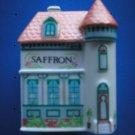 """LENOX SPICE VILLAGE """"SAFFRON"""" PORCELAIN VICTORIAN HOUSE SPICE JAR!"""