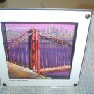 PHILMAX PROGRESSIVE GOLDEN GATE BRIDGE FRAMED HAND-PAINTED 3D OIL PAINTING!