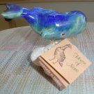 SPERM WHALE GLAZED CERAMIC FIGURINE - HANDMADE by DIAN DANGLER - HOUSE OF NENE - HAWAII!