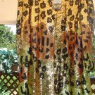 SEQUINED LEOPARD SWING JACKET by GUNIT PLUS SIZE 3X - ONE OF A KIND - BRAND NEW with TAGS - $470!