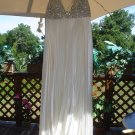 ENCRUSTED RHINESTONE DAZZLING EVENING PLEATED DRESS by JOVANI NEW YORK - BREATHTAKING!