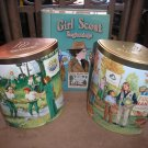LOT OF 3 GIRL SCOUTS TINS - BEGINNINGS, ECO ACTION and FOOD BANK HARVEST!