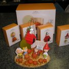 LINUS AND THE GREAT PUMPKIN PATCH 5 PIECE SET - HALLMARK - 2006!