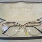 ESSENSE EYEGLASS FRAMES #410 MATT BLACK & GOLD - VERY DIFFERENT!