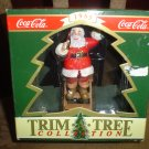 "COCA COLA CHRISTMAS ORNAMENT SANTA CLAUS ""DECORATING THE TREE"" TRIM-A-TREE COLLECTION 1994-NEW!"