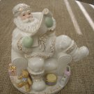 LENOX CHRISTMAS SANTA FIGURINE READING HIS NAUGHTY or NICE LIST!