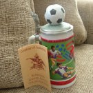 ANHEUSER-BUSCH 1994 WORLD CUP SOCCER STEIN by CERAMARTE of BRAZIL - NEW!