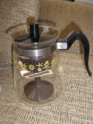 VINTAGE CORY MBS35 COFFEE POT MAKER STOVETOP 3 to 5 CUP GLASS - BRAND NEW!