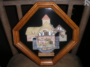 DAVID WINTER PERSHORE MILL DIORAMA FRAMED IN OAK-JOHN HINE LIMITED STUDIOS-HAMPSHIRE,GREAT BRITIAN!