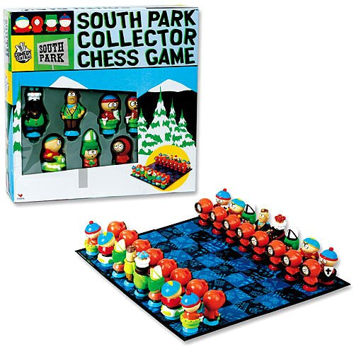 south park collector chess set by cardinal industries in original box. Black Bedroom Furniture Sets. Home Design Ideas