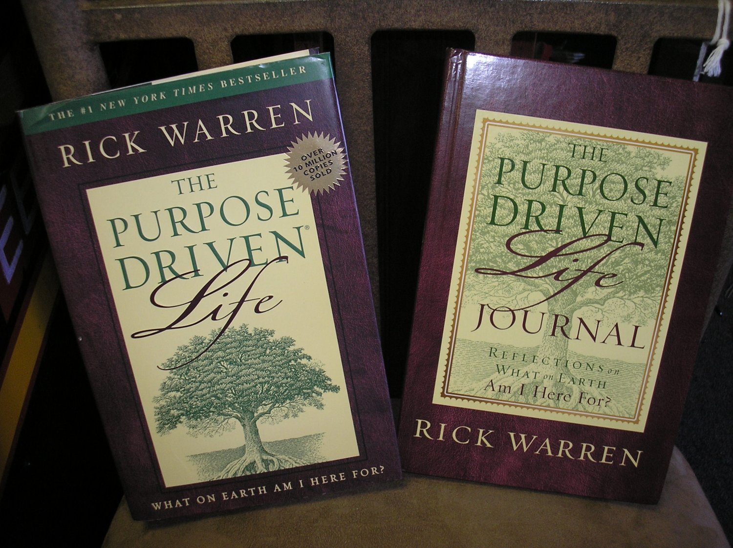 THE PURPOSE DRIVEN LIFE HARDCOVER BOOK & JOURNAL - 2 PIECE SET by RICK WARREN - BRAND NEW!