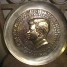 COLLECTIBLE 35th PRESIDENT JOHN F. KENNEDY - BRASS COMMEMORATIVE PLATE - RARE!