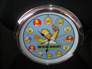 Homer Simpson Quot Woo Hoo Quot Talking Wall Clock 12 Of Homer S