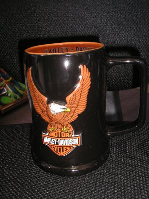 """HARLEY DAVIDSON """"EAGLE"""" TANKARD~MUG~STEIN from 2002 - OFFICIAL LICENSED PRODUCT - NICE ONE!"""