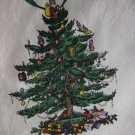 "SPODE ""CHRISTMAS TREE"" FABRIC TABLECLOTH (116 x 58)  by SPODE with 13 MATCHING NAPKINS -FESTIVE SET!"