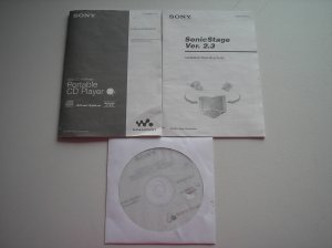 SONY D-NE319/NE320/NE321 - ATRAC CD WALKMAN OPERATING MANUAL with SONICSTAGE VER 2.3 CD and MANUAL!