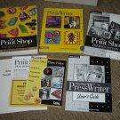 THE PRINT SHOP PUBLISHING SUITE by BRODERBUND includes 2 CD's-WINDOWS 95/98/ME/XP/2000/VISTA/7-WOW!!