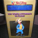 THE WORLD ACCORDING TO GOOFY:WALT DISNEY CARTOON CLASSICS LIMITED GOLD EDITION II VHS TAPE-1985-RARE