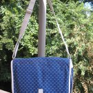GUCCI Purse BLUE & WHITE GG SIGNATURE PATTERN - VERY LARGE - AUTHENTIC!