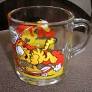 GARFIELD by JIM DAVIS GLASS COLLECTIBLE COFFEE MUG - from MCDONALD'S - 1978 - RARE!
