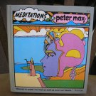 MEDITATIONS HARDCOVER BOOK by PETER MAX from 1972!