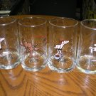 ARBY'S B.C. ICE AGE COLLECTOR SERIES SET OF 4 GLASS TUMBLERS by Johnny Hart from the 1980's!