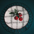 "DEFOREST HANDPAINTED WALL PLATE - ""CHERRIES"" - Distributed by STARNES - from the 1950's!"