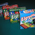 LIGRETTO DICE GAME Set with COMBO PACK-RED SET;BLUE SET & GREEN SET by Playroom Entertainment-NEW!