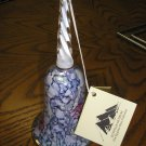 "EGYPTIAN MUSEUM GLASS COLLECTION MOUTH-BLOWN GLASS ""LUSTER"" BELL with ORIGINAL TAG - 7' High!"