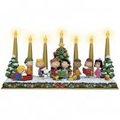 PEANUTS™ CHRISTMAS CANDELABRA from THE DANBURY MINT - CHARLIE BROWN & GANG - RETIRED - IN BOX!