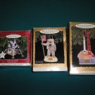 "HALLMARK KEEPSAKE ""NASA"" JOURNEYS INTO SPACE SERIES CHRISTMAS ORNAMENTS-LOT OF 3-IN ORIGINAL BOXES!"