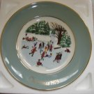 "AVON 1975 CHRISTMAS PLATE ""SKATERS ON THE POND""- IN ORIGINAL BOX!"