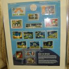 MAN IN SPACE - TRIBUTES TO AMERICAN SPACE ACCOMPLISHMENTS - WORLD OF STAMPS COLLECTION - FRAMED!
