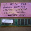 1GB 184-Pin DDR SDRAM DDR 333 (PC 2700) Desktop Memory Model 990980 - OEM!