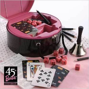 HALLMARK BARBIE 45TH ANNIVERSARY BUNKO & GAME SET!