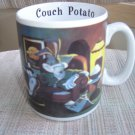 "BUGS BUNNY ""COUCH POTATO"" MUG by LOONEY TUNES LIFESTYLES OF THE 90's (1994)!"