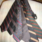 SULKA NECK TIES - LOT OF 6 VINTAGE NECK TIES - AUTHENTIC - WOW!