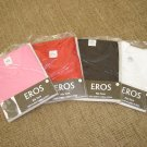 EROS RIB TANK LADIES A-SHIRT - LOT OF 4 - SIZE LARGE - 100% COTTON - BRAND NEW!