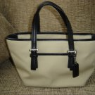 COACH SMALL BEIGE CANVAS TOTE BAG HANDBAG PURSE No. M2J-7447 - AUTHENTIC!