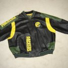 NFL GREEN BAY PACKERS LEATHER JACKET -GLOBAL IDENTITY G-III CARL BANKS-SIZE 4XL-OFFICIALLY LICENSED!