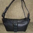VIA SPIGA BLACK PEBBLED LEATHER SMALL PURSE/HANDBAG - VERY UNIQUE STYLE - AUTHENTIC!