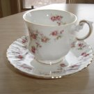 VINTAGE ROYAL CREST BONE CHINA TEA CUP & SAUCER SET - MINI ROSE BUD CHINTZ PATTERN - 1 of 2!