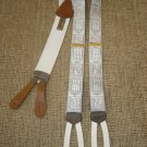 "TRAFALGAR ""STOCKS/BONDS/COMMODITIES/CURRENCY"" SUSPENDERS BRACES - CALVIN CURTIS LIMITED EDITION!"