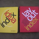 IDEA INDEX & LAYOUT INDEX FLEXIBOUND PAPERBACK BOOKS by Jim Krause!