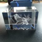 LASER CUT CRYSTAL 3D LION PAPERWEIGHT or DISPLAY COLLECTIBLE in GIFT BOX!