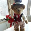 HARTLEY, THE BOYDS® VALENTINE'S DAY BEAR on DISPLAY STAND - THE PERFECT VALENTINE TEDDY BEAR!