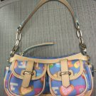 DOONEY & BOURKE MEDIUM BLUE DOODLE BANANA BAG #IG452 - AUTHENTIC!