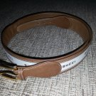 Gucci Men's Chestnut Brown Fabric & Leather Belt - SIZE 42- VINTAGE - RARE - AUTHENTIC!